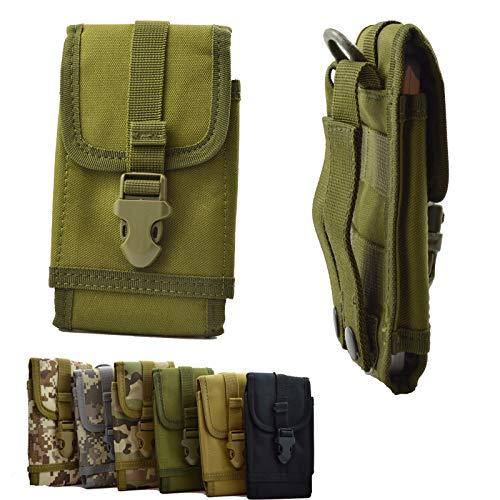 ikracase Outdoor Hülle für Caterpillar CAT S31 Smartphone Gürteltasche Handy-Hülle Tasche Hülle Cover Holster in Army Green