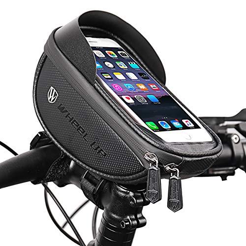 Fudeer Fahrradlenkertasche, wasserdichte Handyhalter, Universal Motorrad-Handy-Halter, für 6,2-Zoll-Smart-Phone