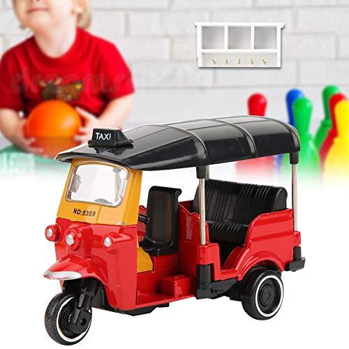 wosume 【𝐕𝐞𝐧𝐭𝐚 𝐑𝐞𝐠𝐚𝐥𝐨 𝐏𝐫𝐢𝐦𝐚𝒗𝐞𝐫𝐚】 Triciclo Coche de Juguete, aleación Triciclo Modelo de Coche Altamente simulación Vehículos de niños Juguete con función Deslizante(Rojo)