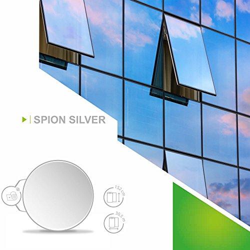 Solar Screen 8,01€/m² Fenster Folien Set Selbstklebende Spiegelfolie Silber 91cm Breite Folie Fensterfolie