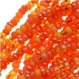 Beads Orange Glass Beads 10-11mm