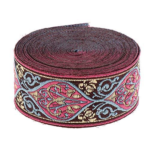 5m Webband Stoff Band Ethno Orientalisch Ripsband Nähen Stoffband Bordüre Heimtextilien dekorative, Elegant und zart - 30x5000mm