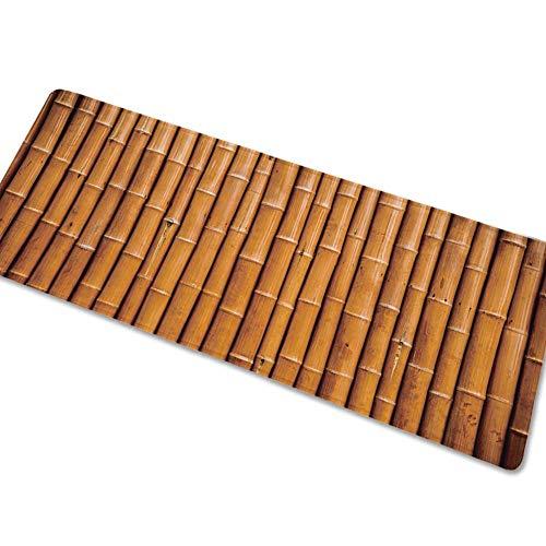 HSXQQ Vintage Plank Lange Mat Flanel Absorbens Niet slip Keuken Tapijt Ingang Deur Mat Woonkamer Koffie Tafel Vloer Mat