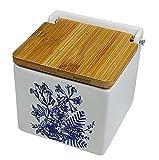 Salero de cocina con tapa de Bambú. Salero y azucarero de cocina decorado....