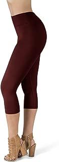 SATINA High Waisted Super Soft Capri Leggings - 20 Colors - Reg & Plus Size