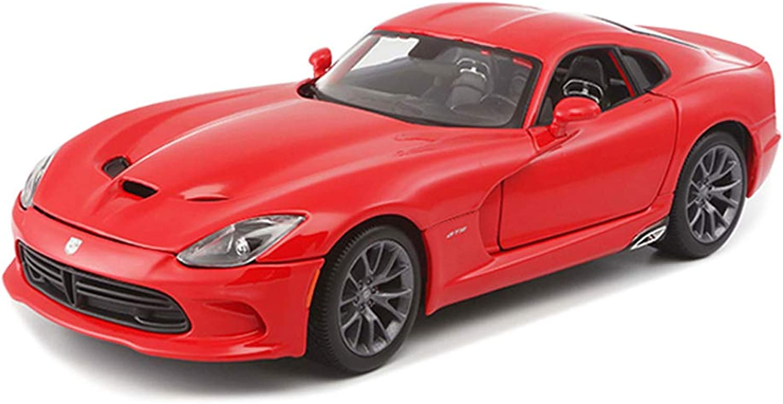 marcas en línea venta barata IVNZEI Dodge V Snake Snake Snake Roadster Modelo de báscula en Color Rojo - Colección de Juguete Modelo de aleación de fundición a presión - 25x10.8x7.5CM Escala 1 18  venta mundialmente famosa en línea