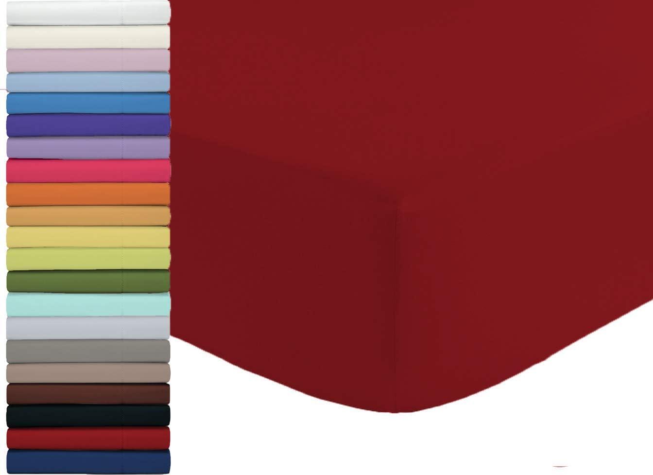 Lenzuolo Sotto Con Angoli Daltex Fuori Misura 90x210 100/%cotone Bianco