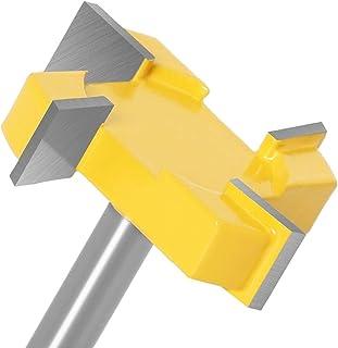 yui Hardware Tools - Fraise à rainurer de 8 mm avec tige en T - 4 cannelures - Tige de 12 mm - Pour outils en bois (spécif...