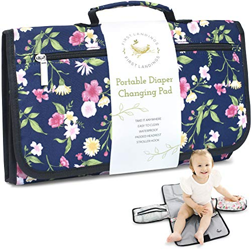 Portable Diaper Changing Pad | Convenient, On The Go Baby Travel Changing Pad | Wipe Holder for Portable Changing Mat | Portable Changing Pad for Diaper Bag | Portable Changing Table