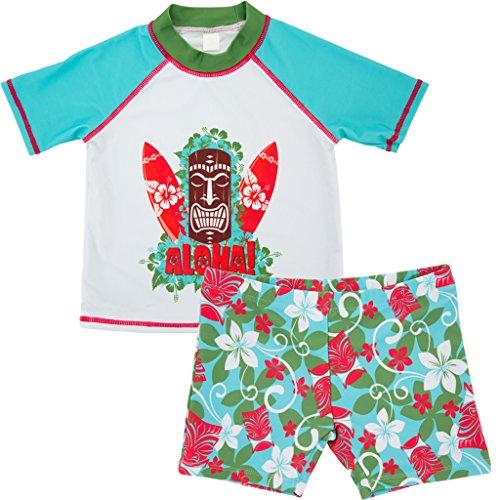 Jongens Tweedelig Badpak Zwemkleding - Peuter Korte Mouwen Sunsuits Kinderen Kinderen Zwemmen T-Shirt en Shorts 1-6 Jaar