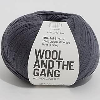 Wool and the Gang Tina Tape Yarn 76 Eagle Grey