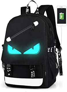 Anime Luminous Backpack Unisex Oxford Backpack Teens College Bookbag Laptop Bag Travel Daypack