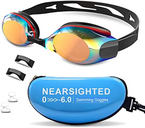 DEFUNX Swimming Goggles Polarized Mirrored Swim Goggles Leakproof Anti Fog UV Protection for product image