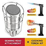 MR.TORCH Butane Gas Cooking/Searing Grill Torch Sous Vide Kit/w Sear Head Attachment, Searzall...