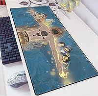 ワンピース-拡張マウスマット-90x40cm-XXLビッグラージマウスパッド-厚いラバーベース-柔らかく滑らか-ホームオフィスアクセサリー-PC&ラップトップ-A_800x300x3mm