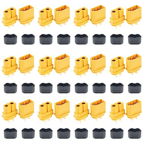 12 Paar XT60H Stecker Stecker Upgrated von XT60 Mantel Buchse und Stecker für RC-Modell und mehr