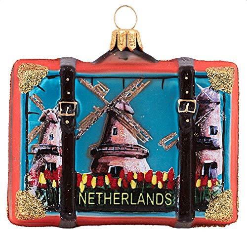 Netherlands Travel Suitcase Netherlands Polish Glass Christmas Ornament Souvenir