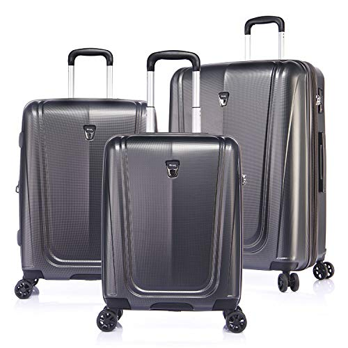Hardside Expandable Spinner Wheel Luggage Set with TSA Lock,Grey, 3-Piece (20/24/28)