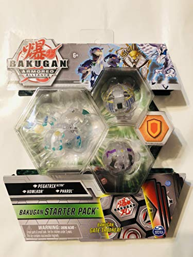 Bakugan Armored Alliance Starter Pack S2 Diamond- Pegatrix Ultra, Collectible Transforming Creatures, for Ages 6 & Up