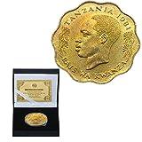 Tanzania Moneta Commemorativa Suocero Nyerere. Indipendente Anniversario Collezione Regalo Bocca Rossa Qilique. Raccogliere/d'oro/Come mostrato