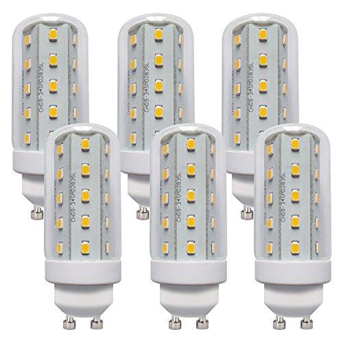 LED Leuchtmittel T30 Röhre 4W Corn 3000K warmweiß 360° (GU10, 6 Stück)