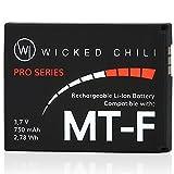 Wicked Chili Li-Ion 750 mAh Akku für AVM Fritz!Fon C5 / C4 / M2 / MT-F Telefone 2,78 Wh, (FRTIZ_1)