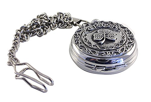 Mullingar Pewter Pocket Watch Celtic Irish Shamrock Mechanical