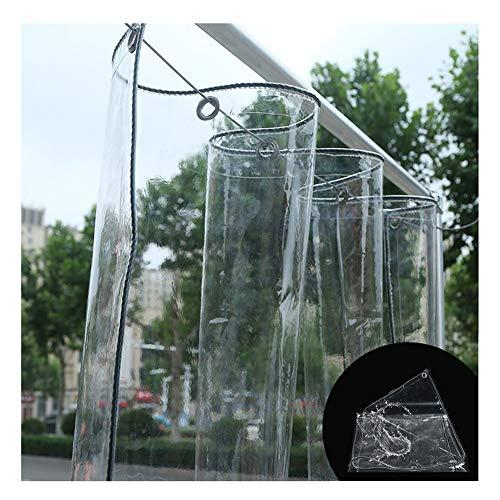 Lona Transparente, PVC Impermeable con Ojales Resistente Al Polvo Antiedad Lonas, Invernadero Plantas Cubiertas Aislamiento Lluvia Toldos, 2 Tamaños LvMyShe (Color : Claro, Size : 2.4x3m)