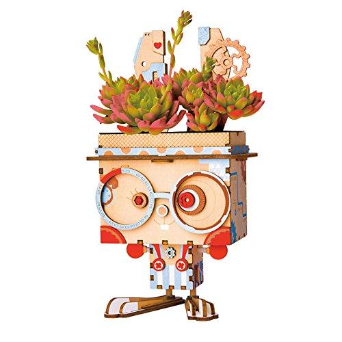 Rolife Bunny 3D Puzzle, Wooden DIY Mechanism Porte-Pénurie pour Le décor de Bureau, Anniversaire et Cadeaux de Noël pour Enfants et Adultes