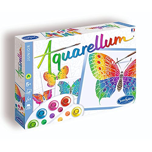 Sentosphere 3900661 - Aquarellum Mariposas Junior Colorear Dibujos para Colorear Juego de 4