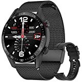 Smart Watch for Android iOS Phones (Receive/Make Calls,Bluetooth) Smart Watches with Step Sleep Tracker,App Message Reminder,Music Control,IP68 Waterproof SmartWatch for Men