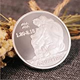 ZKPNV Monedas Conmemorativas Doce Constelaciones Zodíaco Plata Acuario Amor De La Suerte Medallas De Isabel II Euro Astrología Regalos De Recuerdo
