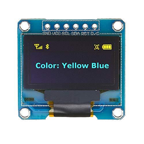 Módulo de pantalla OLED para Arduino de 6 pines, 12864 SPI, color azul y amarillo