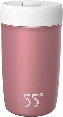 Wazenku 断熱カップ高速冷却男性と女性カップサーモスタット温度制御ステンレススチールウォーターカップクイック冷却カップステンレススチールシェイクウォームウォーターカップ (色 : ピンク)