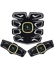 EMS 腹筋ベルト 腹筋トレーニング 筋トレ器具 ダイエットベルト 8パッド 液晶表示 USB充電式 腹筋 腕筋 「6種類モード 9段階強度 日本語説明書付属」 pse規格品