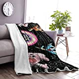 Tengyuntong The AMA-Zing World Gum-Ball Lambs Wool Fleece Blanket - Terciopelo Ultra Suave - Throw/Travel - Cozy Lightweig 50 & Times; 60