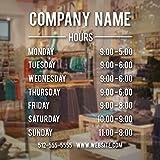 Jsnzff Horario de Apertura de la Tienda con el Nombre de la Empresa Calcomanías de Vinilo comerciales Horas comerciales Calcomanías Sitio Web Número de teléfono 96x127cm