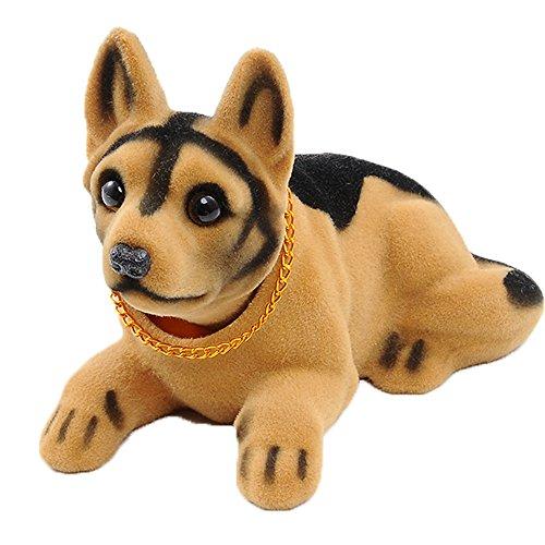 Ebow Dashboard Head Dogs Nodding Heads Car Dash Ornaments Puppy for Car Vehicle Decoration(Shepherd)