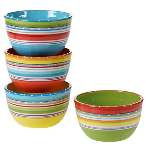 Certified International 25629SET/4 Mariachi Ice Cream Bowls (Set of 4), 5.25', Multicolor