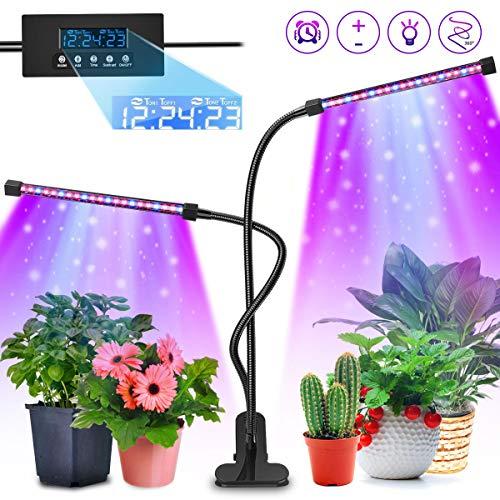 AODOOR Pflanzenlampe, Wachsen licht mit Loop-Automatik-Timer, 40 LED Pflanzenlicht, 20W Pflanzenleuchte Wachstumslampe - 3 Arten von Modus, 5 Arten von Helligkeit