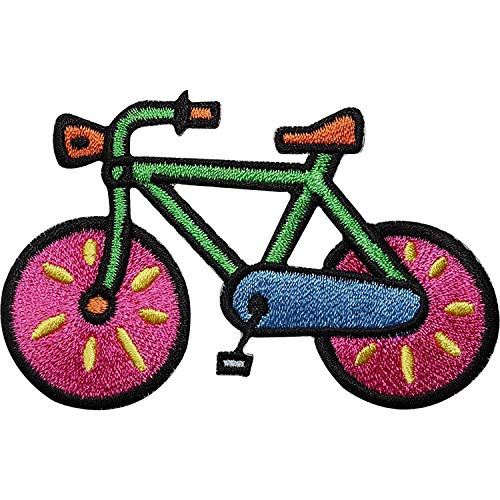 Bicycle Embroidered Iron/Sew On Patch Cycling Bike Clothes Bag T Shirt Badge