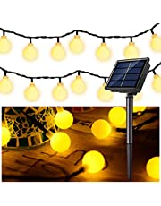 Solar String Lights Outdoor Fairy Lighting 30 LED Warm Decorative Lamp for Indoor Home Bedroom Garden Party Festival Holiday Wedding (Globe Ball, Waterproof)