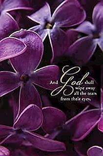 Purple Violets Funeral Bulletin (Pkg of 50)