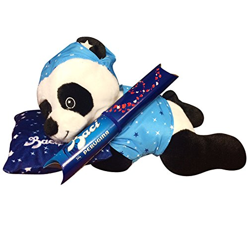 Zeus Party Peluche Panda sdraiatao con Tubo Baci PERUGINA cioccolatini Cioccolata San Valentino