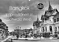 Bangkok Impressionen in Schwarz Weiss (Wandkalender 2022 DIN A2 quer): Eindruecke aus der Hauptstadt von Thailand (Geburtstagskalender, 14 Seiten )