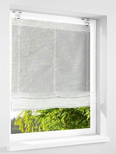 Gardinenbox.eu Raffrollo, Farbe Weiss, 1 Stück, Heine Home, Größe: ca. HxB: 140x120 cm, Einfache Montage mit Hakenaufhängung und Ösen, Lieferung Inklusive Zubehör
