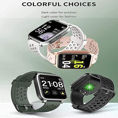 RCH Reloj inteligente de moda, contador de calorías, contador de contador de calorías, varios deportes, rastreadores de fitness, funciones de monitoreo del sueño (color: B) (A)
