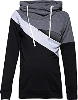 Wiwsi Women Maternity Nursing Top Jumper Hoodies Breastfeeding Hooded Sweatshirt