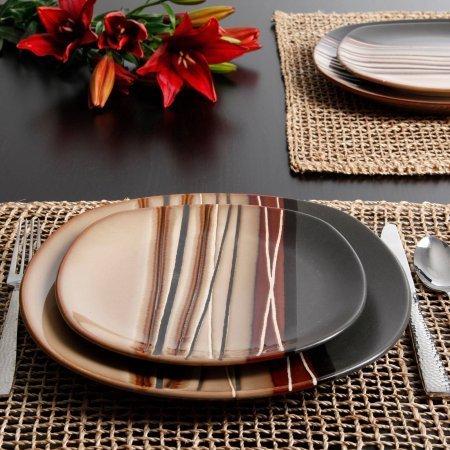 Mejor Better Homes & Gardens 16-Piece Burns Dinnerware Set, Black Speckled crítica 2020