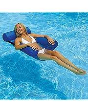 عوامة حمام السباحة من بينغ كيوت، كرسي للشاطئ ولحمام السباحة للرياضة المائية بتصميم ارجوحة قابل للنفخ للاسترخاء والسباحة، بتصميم ارجوحة عائمة